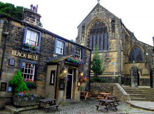 Black Bull Inn Haworth and All Saints Church