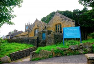 Bronte Parsonage museum from the car park